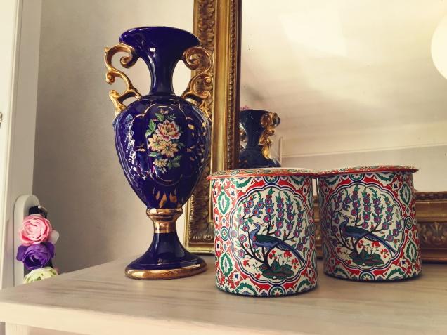 Vase et boîtes métalliques (Tri-Tout Solidaire St-lô)