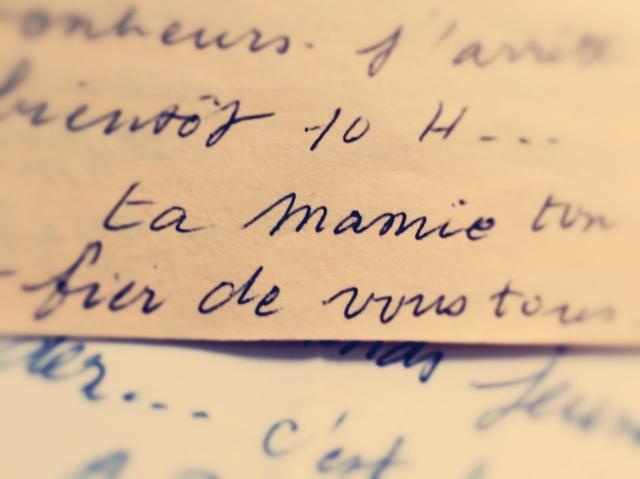 Extrait d'une lettre de ma Grand-mère