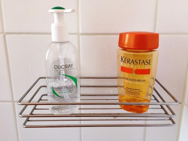 Shampoing traitant Sensinol (Ducray) Bain Oléo-Relax (Kérastase)