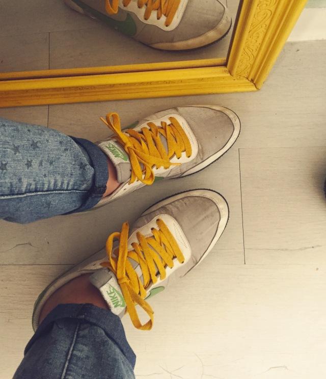Ressortir des vieilles baskets qu'on avait oublié...
