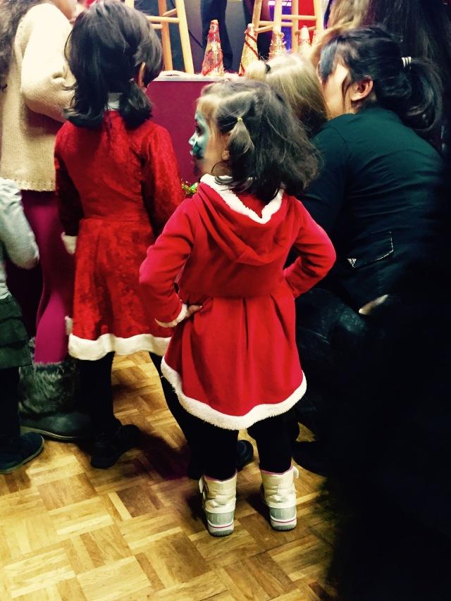 Petite fille syrienne au Réveillon de Noël